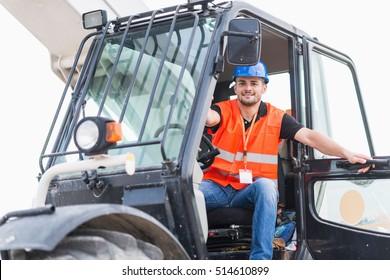 Manual Worker on Skid Steer Loader