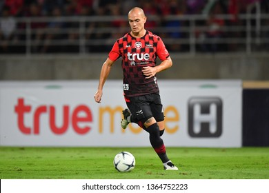 Manuel Bihr of Bangkok United in action during The Football Thai League between Bangkok United and SCG Muangthong United at True Stadium on March 02,2019 in Pathum Thani, Thailand
