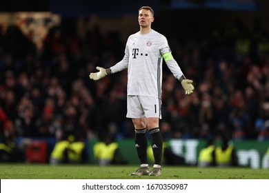 Manuel Neuer of Bayern Munich - Chelsea v Bayern Munich, UEFA Champions League - Round of 16 First Leg, Stamford Bridge, London, UK - 25th February 2020