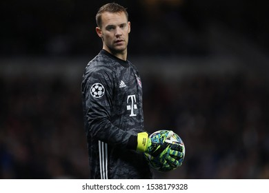 Manuel Neuer of Bayern Munich - Tottenham Hotspur v Bayern Munich, UEFA Champions League - Group B, Tottenham Hotspur Stadium, London, UK - 1st October 2019