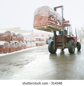Manufacture of a brick. Loading of finished goods.