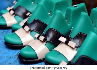 Manufacture of footwear.