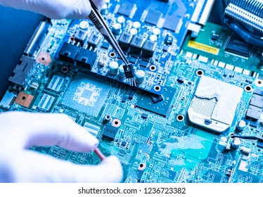 manufacture of the new modern micro electronic technology computer boards
