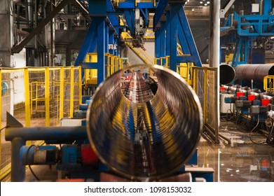 Manufacture of steel pipes in the factory