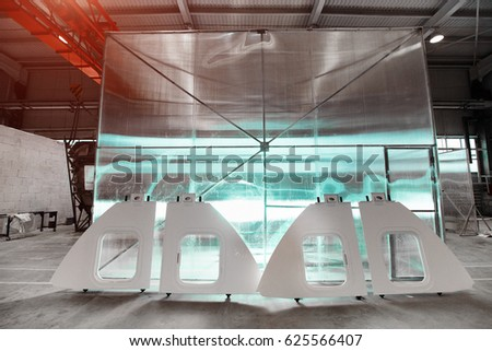 Manufacturing Parts Cars Boats Machines Made Stock Photo