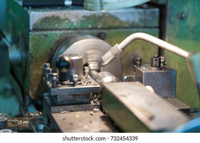 Manufacturing of parts on a lathe. Metalworking.