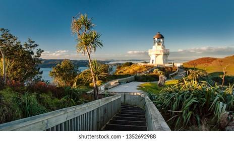 Manukau Heads Lighthouse, Auckland, New Zealand [closeup view]