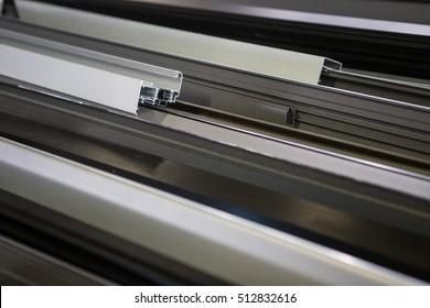 Many aluminum profiles./Aluminum profiles colors