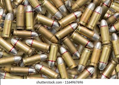many ammunition bullets pattern background