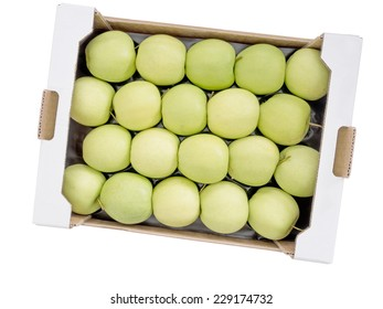 Many apples. Bulk buy, wholesale Golden Delicious. Isolated.