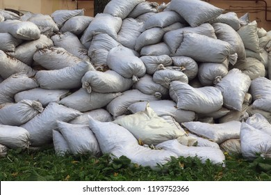 many bags on the grass