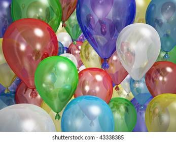 Many many ballons