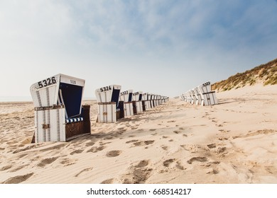 Many Beach chairs at Sylt beach