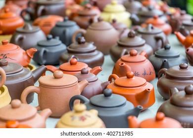 Many Beautiful Teapots in Hong Kong Market