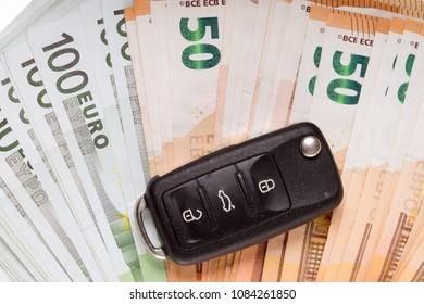 many bills and car key