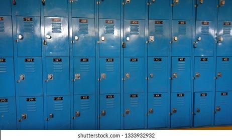 many blue lockboxes