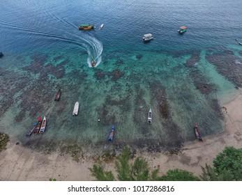 Many Boat Parking at Iboih Beach Sabang