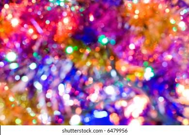 many bright blurred  lights