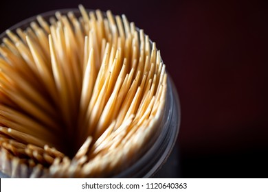 Many brown toothpicks.