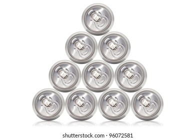 Many cans of cold beer