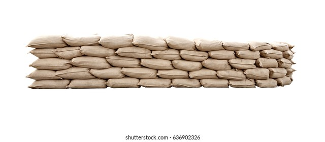 Many canvas bags stacked in a pile. Packages stacked in neat rows. Bulk products in bags . Warehouse business. Storing products in the warehouse.