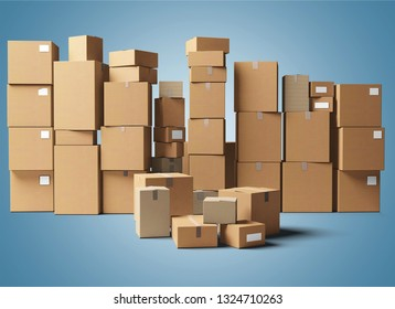 Many cardbox packages
