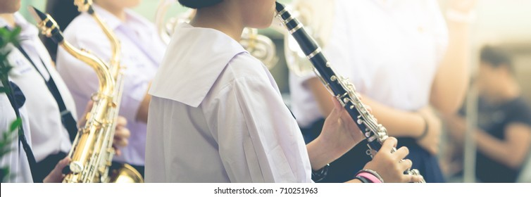 many children playing musical instruments