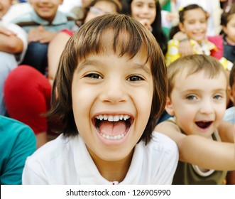 Many children portrait