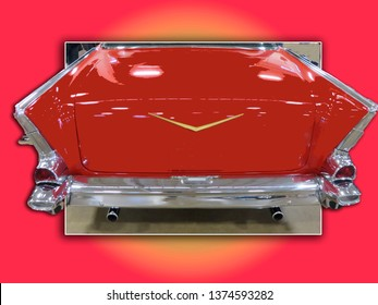 Many classic cars have features that are undeniable.  Like this late 50's beauty most anyone can tell you exactly what car this rear end is from.
