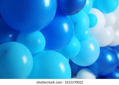 Many color balloons as background, closeup. Party decor