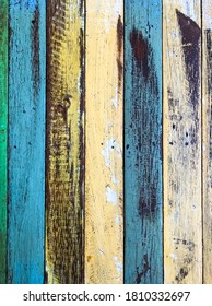 Many color on wood table used background