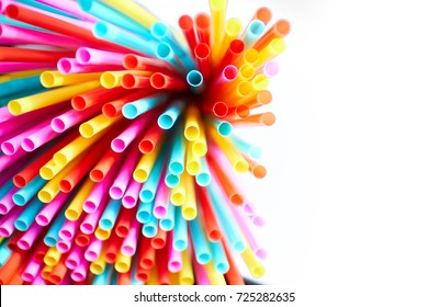 many color tubules for cocktail