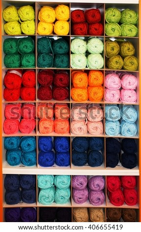 c586dc623d0ae many colored yarn of soft wool of sheep for sale in the wholesaler s shop