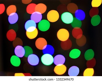Many colorful points of light