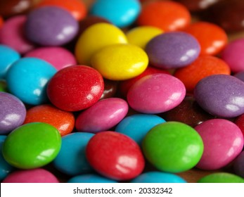 Many colors of sweet candy
