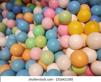 Many colourfull ball for toddler joy