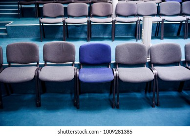 Many comfortable chairs in empty conference hall. Selective focus. Different from others. & Rows Of Chairs Images Stock Photos u0026 Vectors (10% Off) | Shutterstock