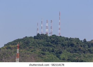 Many of the communications antenna on the mountain