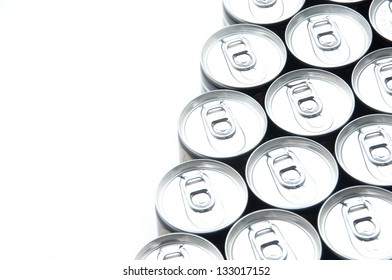 Many cooled cans