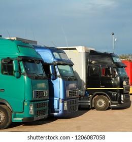 Many different trucks