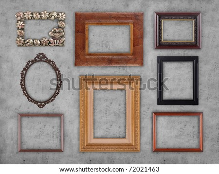 Many Different Type Frames On Wall Stock Photo Edit Now 72021463