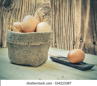 Many eggs are in the bag.
