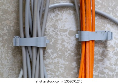 Many Electric cables along the wall