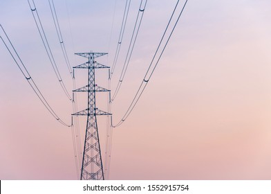 Many electrical cable - wire and telephone line on electricity post, Messy wires attached to the electric mast, No selective some point in image, Have noise, Have blur.