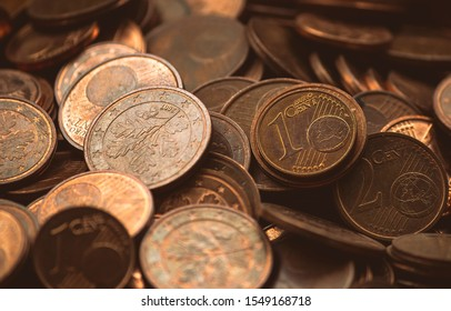 Many Euro Cent Coins, which can be wonderfully used as a background.