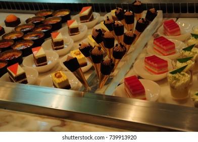 Many fruit desserts