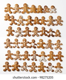 many fun gingerbread men