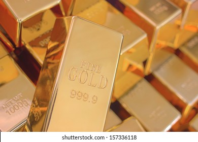 Many Gold Bars or Ingot
