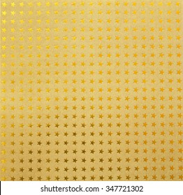 Many gold stars on brown paper for Pattern Background Texture
