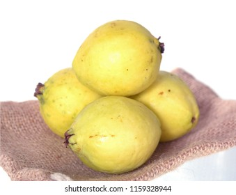 many guava fruit in the basket